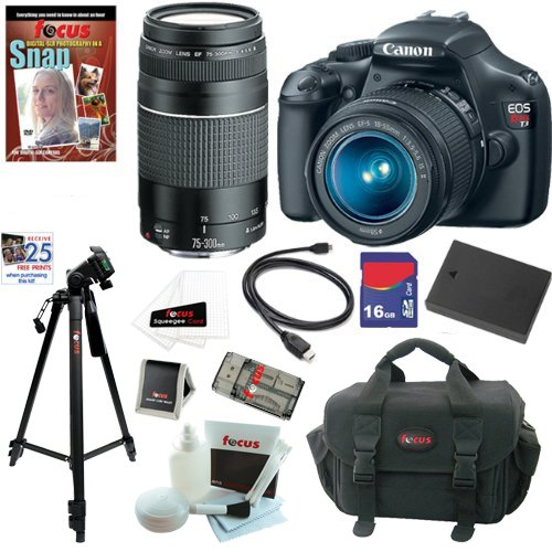 Canon EOS Rebel T3 12.2 MP CMOS Digital SLR Camera with Zoom Lens & Telephoto Zoom Lens + 10pc Bundle 16GB Deluxe Accessory Kit at Sears.com
