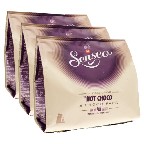 Find Senseo Cocoapods Hot Choco, Hot Chocolate, design, Pack of 3, 3 x 8 Cocoa Pods from Douwe Egberts