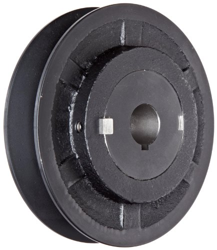 "Martin 1VP34 3/4 VP Sheave, 3L/4L/5L or A/B Belt Section, 1 Groove, 3/4"" Bore, Class 30 Gray Cast Iron, 3.15"" OD, 7876 max rpm, 1.9-2.8"" Pitch Diameter/2.0-3.0 Datum/2.3-3.2 Datum"