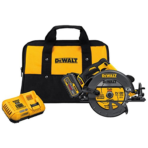 Find Cheap DEWALT DCS575T1 FLEXVOLT 60V MAX Brushless Circular Saw with Brake and 1 Battery Kit, 7-1...