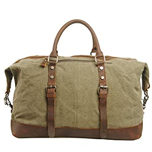 Berchirly High Quality Mens Womens Canvas Shoulder Travel Duffel Bag Luggage