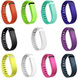 Henoda 11PCS Replacement Bands With Metal Clasps For Fitbit Flex Wireless Activity Sleep Wristband Set Of 11 With...