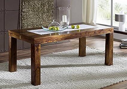 Massivmöbel en bois massif life honey cubus table 140 x 90 sheesham massif laqué meuble metro life#169