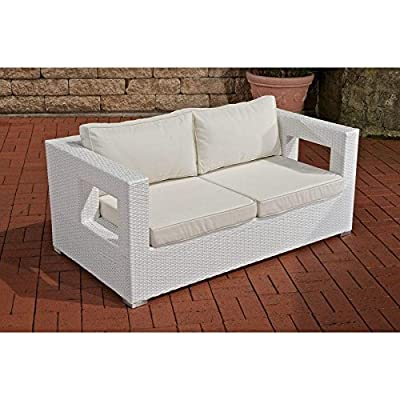 2er Sofa Honolulu, weiß von CLP bei Gartenmöbel von Du und Dein Garten