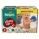 Pampers - 81376090 - Easy Up Couches Culottes - Taille 5 Junior - 12-18 kg - Megapack x 75 Couches