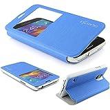 Samsung Galaxy S5 Hülle Original UrCover® View Case für das S-5 [DEUTSCHER FACHHANDEL] Schutzhülle Zubehör Tasche Schale Galaxy S 5 Etui optimaler Handyschutz Blau