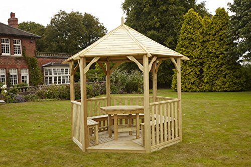 Cheap Price Hgg Open Wooden Gazebo Without Table And Benches