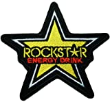 Rockstar Energy Drink Patches Star Iron on Patch Racing Patches Embroidered Iron on Patch style04