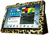 Fintie Slim Fit Folio Case Cover for Samsung Galaxy Tab 2 10.1 inch Tablet - Leopard Brown