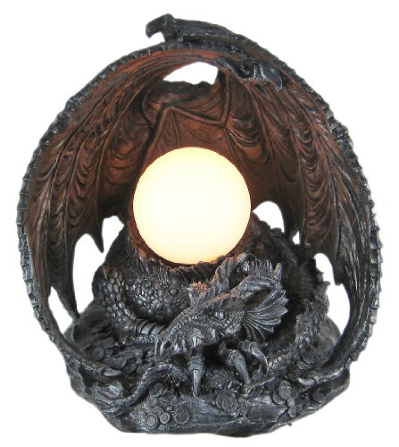 Cool Sleeping Dragon Gothic Table Globe Lamp