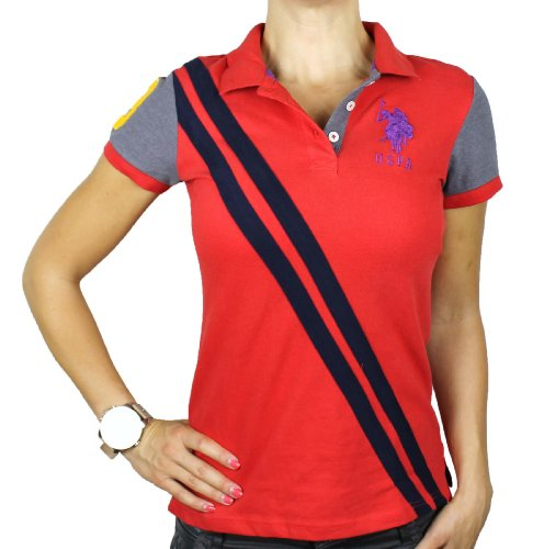 U.S. Polo Assn. Juniors Big Pony Splice Polo, Ruby Spin, Large