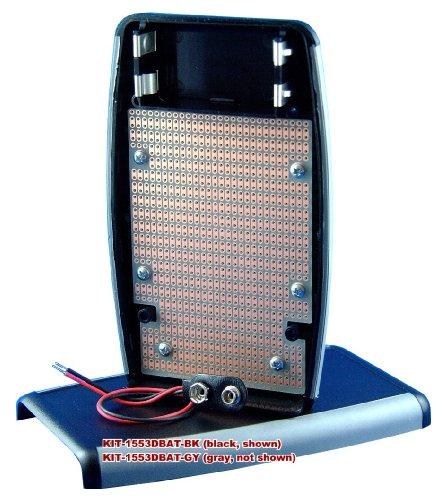 Kit-1553Dbat Box+Pcb, Grey Handheld Soft Sided Plastic Box With Batt. Compartment, With Pr1553Dbat Pcb, Box = 5.8 X 3.5 X 1.0 In