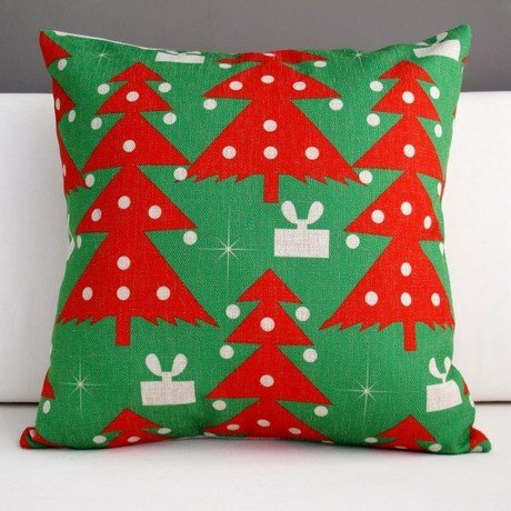 Home Christmas Carton New Year Bear Bedding Sofa Cushion Cover Pillow Case front-1058539
