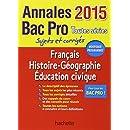 Annales 2015 Français/Histoire-Géographie Bac Pro