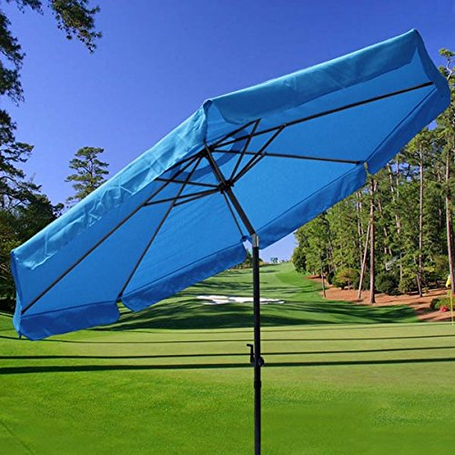 9 Foot Patio Outdoor Furniture Umbrella Tilt Blue outdoor umbrella patio furniture rome 3 meters square