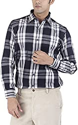 Silkina Men's Regular Fit Shirt (VPOI1310FBK, 40)