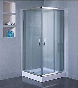 Concept-Usine Mazara : paroi de douche d'angle : l 90 X L 90 X H 198 cm, receveur inclus, structure en aluminium haute qualité