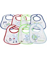 Baby Patterned 7 Days Of The Week Bibs in Boys & Girls Options (Pack of 7) (0-6 Months)