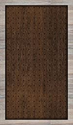 New View Dark Wood Grain with Gray Wash Peg Board 24x14 inches (01-HV-13060)