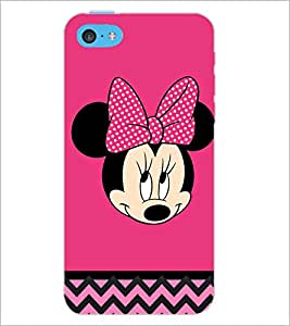 PrintDhaba Minnie Mouse D-2324 Back Case Cover for APPLE IPHONE 5C (Multi-Coloured)