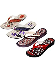 Krocs Super Comfortable Combo Pack Of 2 Pair Flip Flop With 2 Pair Slippers For Women (Pack Of 4 Pair) - B01JS6TG42