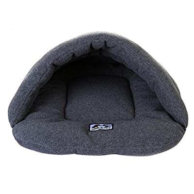 Skyblue-uk Pet Cat Dog Nest Bed Puppy Soft Warm Cave House Soft Foldable Winter Soft Cozy Sleeping Bag Mat Pad