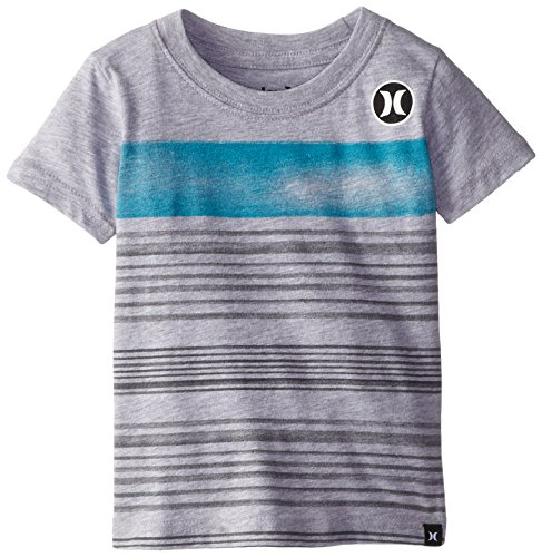 Hurley Baby-Boys Infant Alt S Tee, Grey Heather, 12 Months front-627500