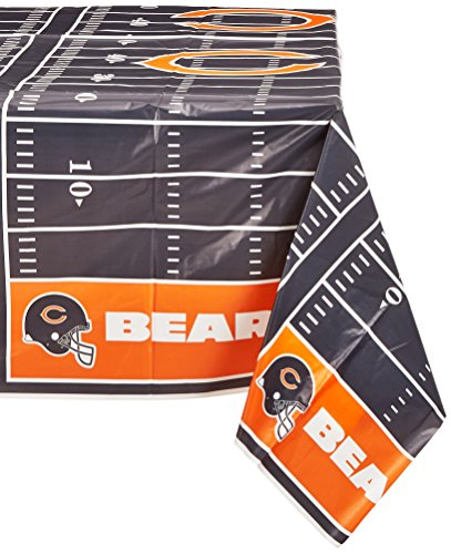 DesignWare Chicago Bears NFL Plastic Table Cover, 54 by 102""