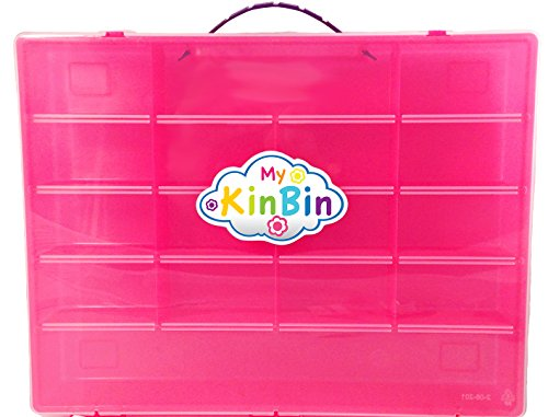 Pink Storage Container, Organizer For Shopkins - My Kin Bin - Fits Over 200 Characters, Many Shopping Bags & Up to 24 Shopping Baskets - Pink Case with a Purple Handle (Egg Vending Machine compare prices)