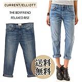 Current Elliott 正規品 カレントエリオット ボーイフレンドデニム クロップトパンツ THE BOYFRIEND RELAXED RISE MOUNTAIN Jeans denim レディース クロップド ロールアップ ジーンズ 1957-0400130206_free [並行輸入]