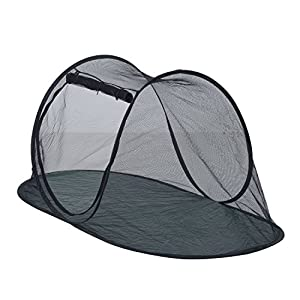 "PawHut 72"" Outdoor Tent for Indoor Cats - Green and Black"