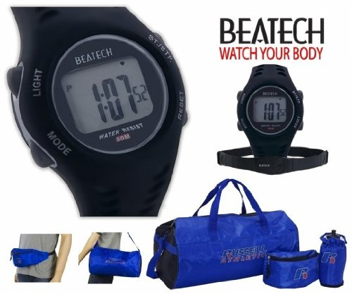 Cheap Sopra Beatech BHS7000 RA220 Beatech Heart Rate Monitor with Chest Strap with Russell Athletic 3pc Workout Set (Beatech BHS7000 + RA220)