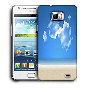 Snoogg Blue Sky Printed Protective Phone Back Case Cover For Samsung Galaxy S2 / S II