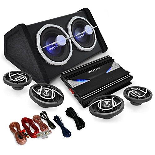 auna-black-line-520-pack-sono-complet-set-tuning-avec-ampli-enceintes-subwoofer-et-cables-41-effets-