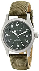 Hamilton Men's HML-H69419363 Stainless Steel Watch with Khaki Field Green Strap