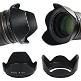 TOP-MAX® 58mm Sonnenblende Gegenlichtblende Lens Hood für Canon EOS 1100D 600D 700D 1200D 400D 100D