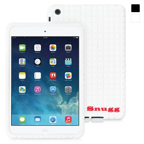 Snugg iPad Mini & iPad Mini 2 Silicone Case in White - Non-Slip Material, Protective and Soft to Touch for the Apple iPad Mini & iPad Mini 2
