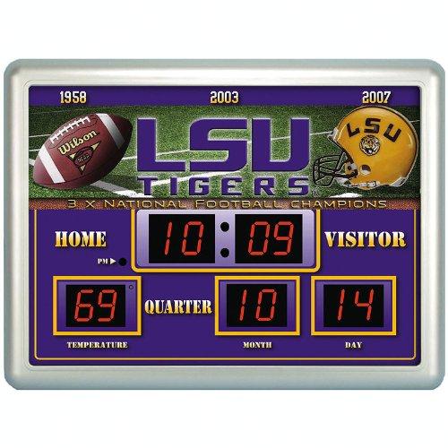 Ncaa Lsu Tigers Indoor/Outdoor Scoreboard Wall Clock