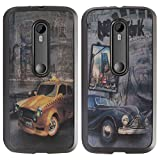 DMG Premium 3D TPU Protective Back Cover Case For Motorola Moto G 3rd Gen 2015 Edition XT1540 (Cars)