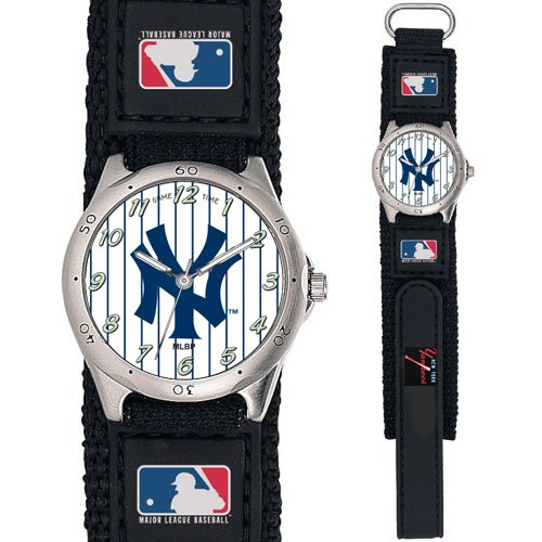 New York Yankees Future Star Youth Watch By Game Time(Tm) - Black Adjustable