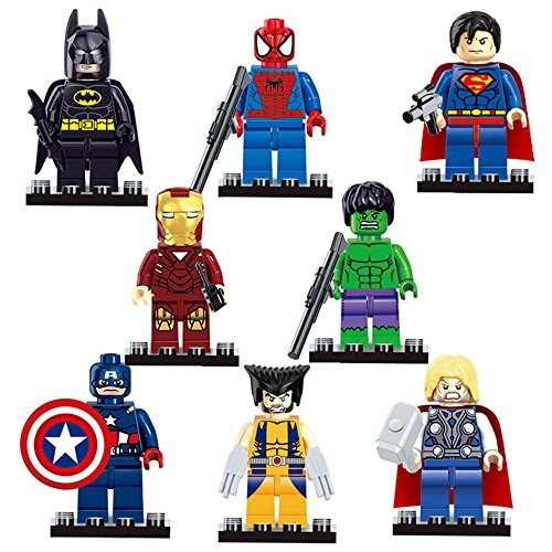 Marvel Avengers Super Hero - Set 8 personaggi.