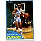 1981 82 Topps Basketball Card # W94 Brian Taylor San Diego Clippers In A Protective... by