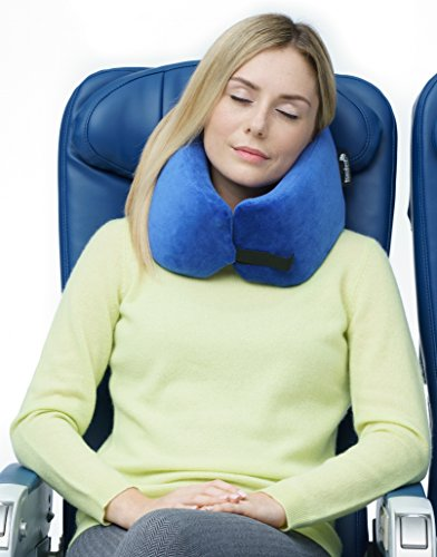 *NEW* Travelrest - The Ultimate Memory Foam Travel Pillow - Therapeutic, Ergonomic, Innovative & Patented - BEST Travel Pillow for Airplanes, Cars, Buses, Trains, Office Napping, Camping, Wheelchairs & Home GREAT HOLIDAY GIFT!