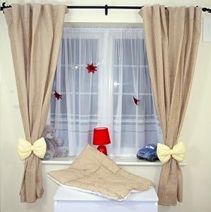 Amazing nursery baby curtains with tie backs 12 for Nursery curtains uk