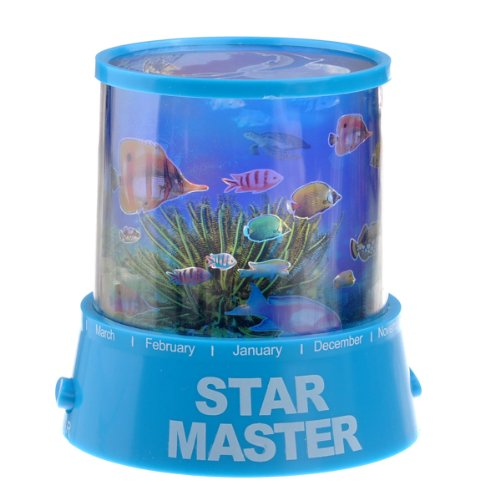 Foxnovo Romantic Underwater World Colorful Led Projection Lamp Led Night Light Lamp (Blue) front-948405