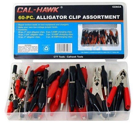 Alligator Clip & Clamp Assortment Electrical 60 Pc Set