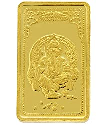 TBZ-The Original 25 gm, 24k(999) Yellow Gold Ganesh Precious Coin