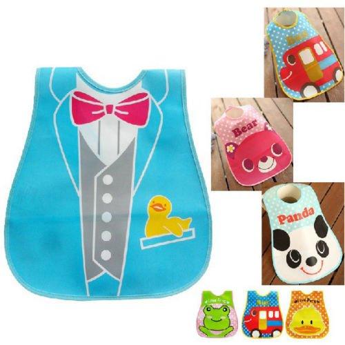 Baby Bibs Infant Saliva Towel Bear Cartoon Animal Style Solid Waterproof