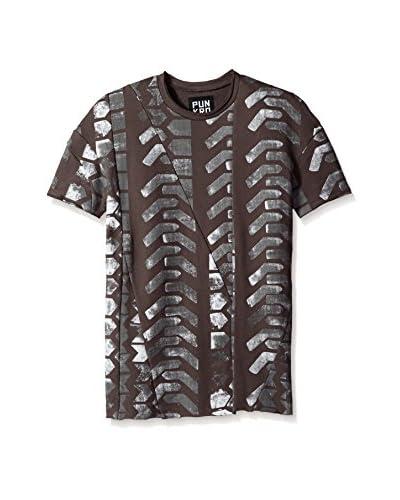 Punk Royal Men's Chevron Print Short Sleeve T-Shirt