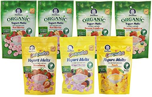 Gerber Graduates Yogurt Melts, Variety, 1 Ounce (Pack of 7) (Organic Yogurt Bite Gerber compare prices)